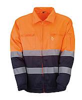 Куртка рабочая светоотражающая, 60% хлопок/ 40% полиэстер, 230 г/ м2