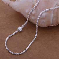 Ожерелье цепочка кулон 3 в 1стильный замок-  серебро 925 пр