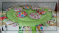 Дитячий килим в салатових тонах 1140