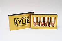 Набор жидких матовых помад Kylie Birthday Edition от Кайли Дженнер 6 штук
