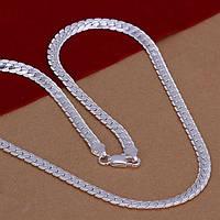 Цепочка плетение змейка плное плетение -серебро 925 пр