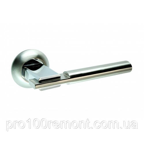 Ручка дверная на розетке NEW KEDR R10.038-AL-SN/CP