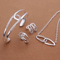 Набор - браслет, кольцо,серьги и подвеска