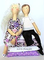 Влюбленная пара текстильных кукол, подарок на годовщину свадьбы