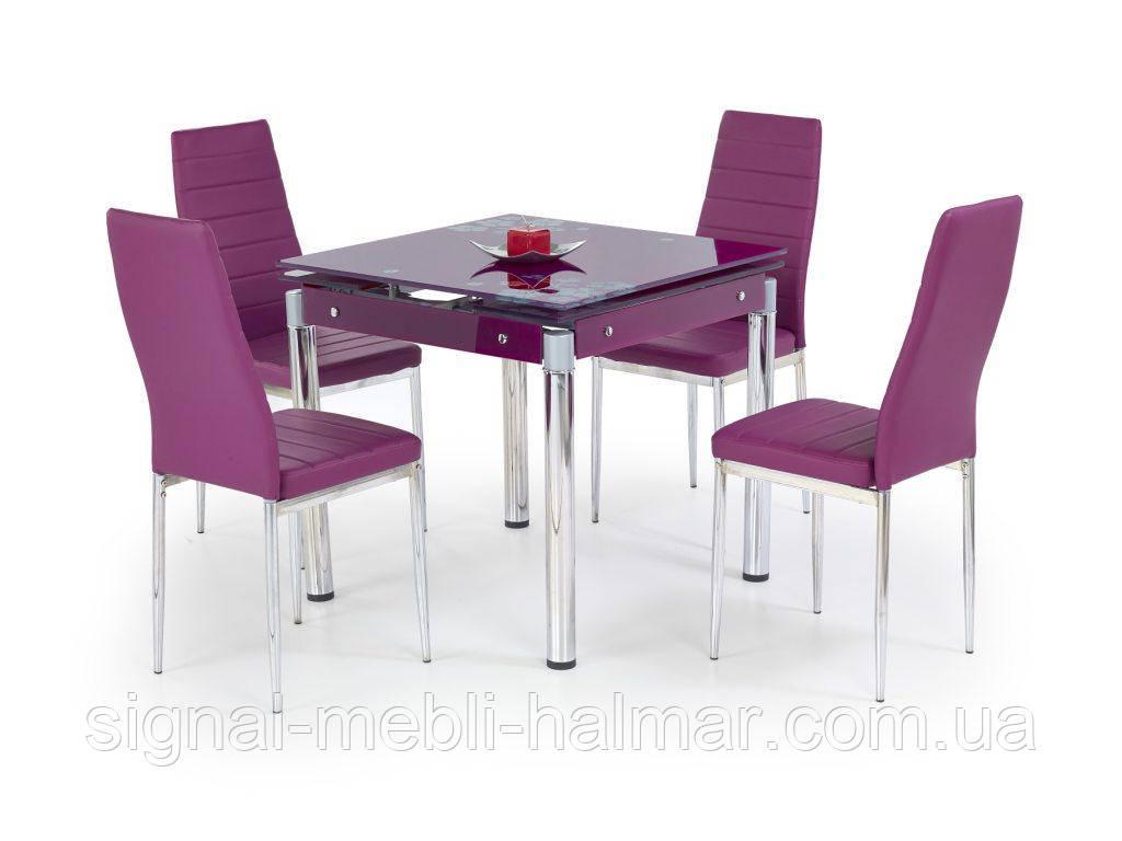 Стол KENT stal chromowana Halmar фиолетовый