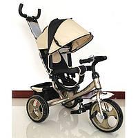 Трехколесный детский велосипед TURBO TRIKE M 3113-9 золотой, колеса EVA