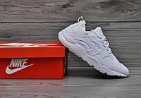 Мужские кроссовки Nike air huarache бело-пудровые