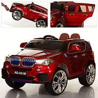 Детский электромобиль с мягкими колесами M 2762 EBLRS-3 (MP4) вишневый, кожаное сиденье и автопокраска