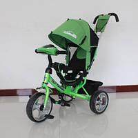 Детский трехколесный велосипед T-345 Camaro с фарой, Зеленый