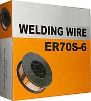 Омедненная проволока(СВ08Г2С) ER70S-6 д. 1,2 мм, кассета 5  кг