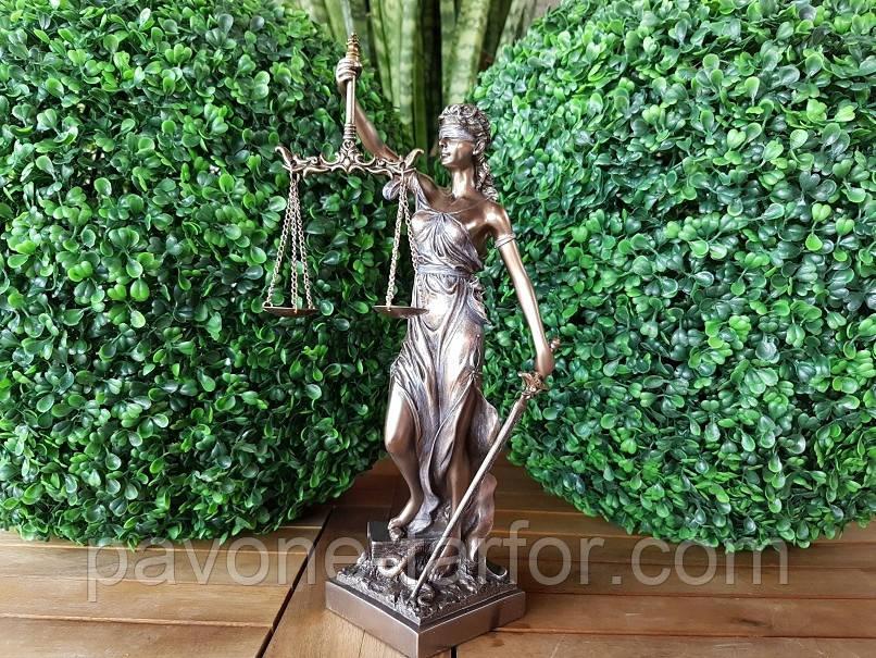 "Подарочная статуэтка Veronese ""Фемида"" (32 см) 71832A4. Подарок юристу, фото 1"