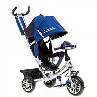 Трехколесный велосипед Lambotrike Azimut AIR с фарой, НАДУВНЫЕ КОЛЁСА синий