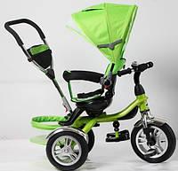 Трехколесный велосипед-коляска TR 16003 зеленый ПОВОРОТНОЕ СИДЕНЬЕ