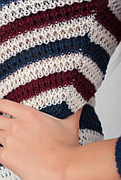 Джемпер женский вязаный AG-0002651 (Сине-бордовый)