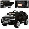Детский электромобиль джип Audi Q7 M 3231-2 EBLR черный, кожаное сиденье и мягкие колеса