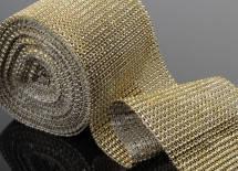 Лента имитация стразов (бриллиантовая), 0,5 метра золото