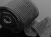 Лента со стразами (бриллиантовая), 0,5 метра черная