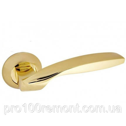Ручка дверна на розетці NEW KEDR R10.045-AL-SB/PB, фото 2