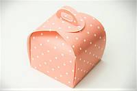 Упаковка для кусочка торта, пироженого и др. изделий, 110х110x110 мм, дизайн 16