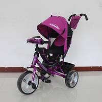 Детский трехколесный велосипед T-345 Camaro с фарой, Фиолетовый