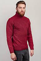Гольф мужской теплый, свитер с горлом AG-0002700 (Темно-коралловый)