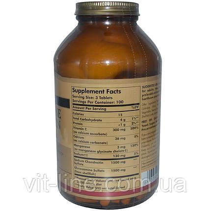 Solgar, Комплекс глюкозамина и хондроитина, более сильный, 300 таблеток, фото 2