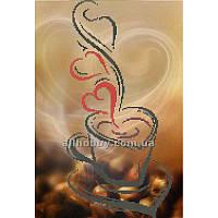 Схема для вышивания бисером Любимый кофе БИС3-18 (А3) Схема на габардине с бисером