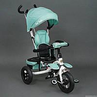 Велосипед 3-х колёсный 6699 Best Trike (1) БИРЮЗОВЫЙ, надувные колёса, поворотное сидение, фара, ключ зажигани