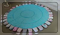 Дитячий килим в бірюзових тонах 1141