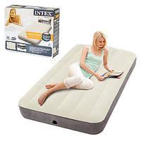 Надувная велюр кровать Intex 64707 191*99*25 см