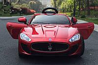 Детский электромобиль Maserati 88 вишневый, колеса EVA, автопокраска и кожаное сиденье, фото 1