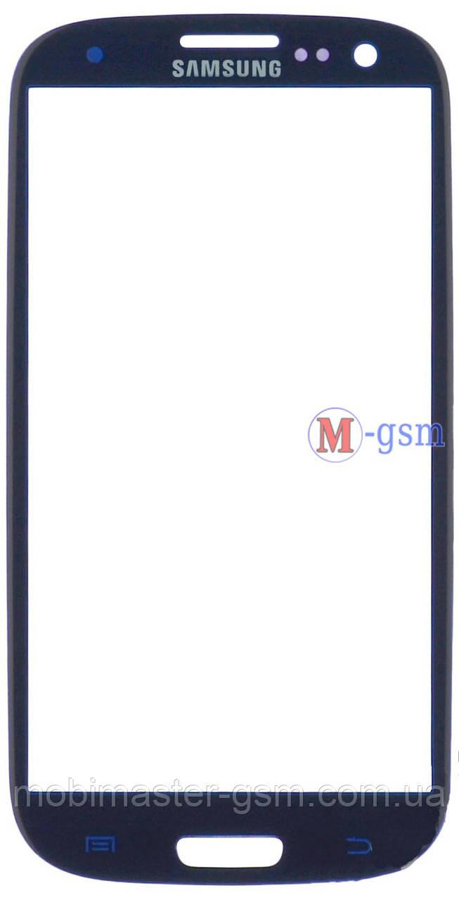 Стекло  Samsung i9300 Galaxy S3, I9305 Galaxy S3 синее