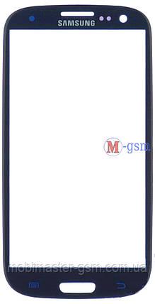Стекло  Samsung i9300 Galaxy S3, I9305 Galaxy S3 синее, фото 2