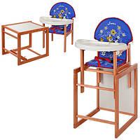Стульчик для кормления со столиком Трансформер М V-013-24-6