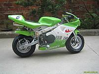 Детский спортивный электрический мотоцикл HL-G29E 500W 36V зеленый