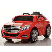 Детский электромобиль Mercedes Benz ZP 8003 EBLR-3 красный, мягкие колеса и кожаное сиденье