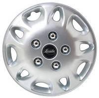 Колпаки на колеса диски для дисков R 12 серые (с хромированными болтами) колпак K0001