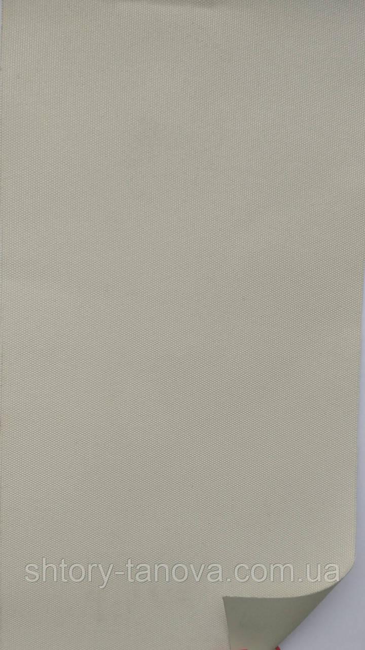Рулонные шторы рубин блэк-аут (блекаут) слоновая кость
