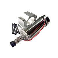 Электро шпиндель 500 Вт 12-48 В с кронштейном  для ЧПУ фрезерного станка с воздушным охлаждением, ER11 патрон