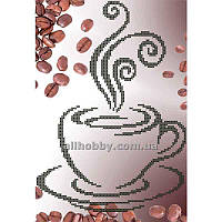 Схема для вышивания бисером Чашка кофе БИС4-39 (А4) Схема на атласе с бисером