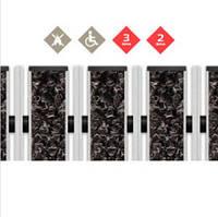 Миталева решітка - наповнювач Текстиль + Скребок