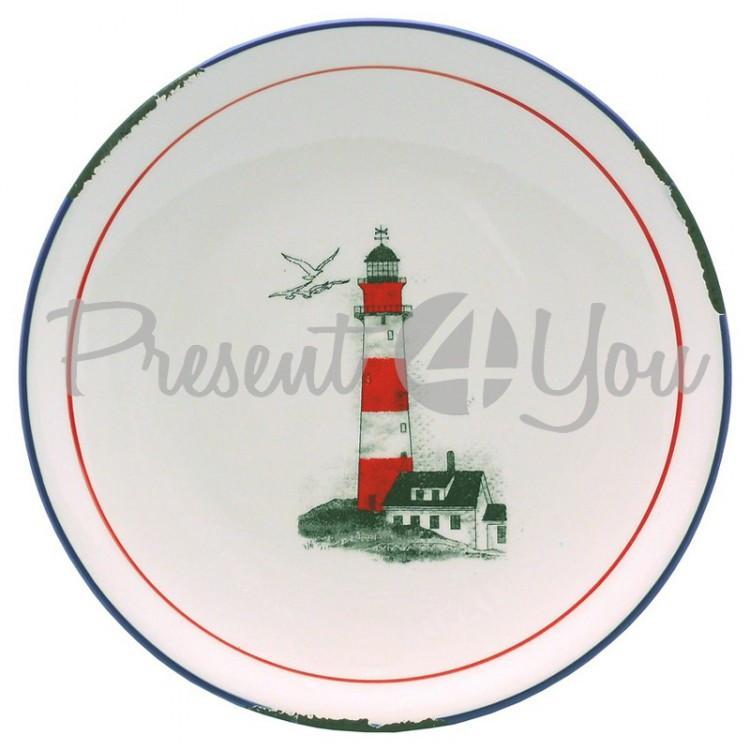 Блюдо Маяк, керамическое Sea Club, h-2,5 см, d-20 см (3908.V)