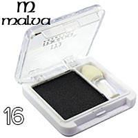 Тени для век одинарные Malva cosmetics M374-16  (черные перламутровые)