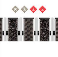 Алюмінієва решітка - наповнювач Щетка + Текстиль + Скребок