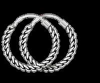 Серьги-кольца из серебра Эфиопия 000024702