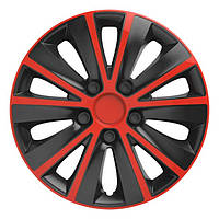 Колпаки на колеса диски для дисков R13 красно / черные Рапид RD/BK колпак