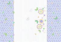 Ткань Флауерс голубая 150 см хлопок