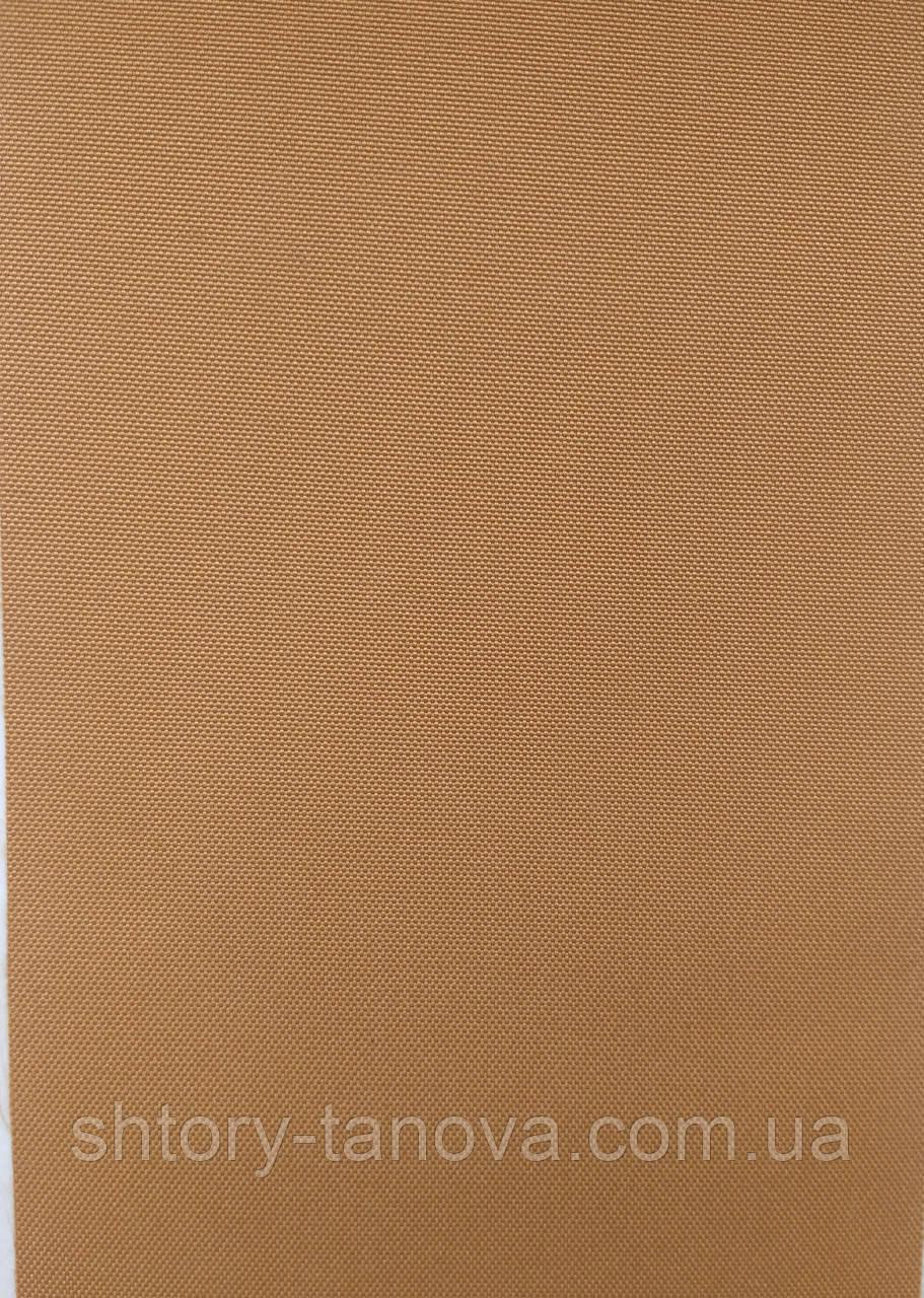 Рулонные шторы рубин блэк-аут (блекаут) св.коричневый