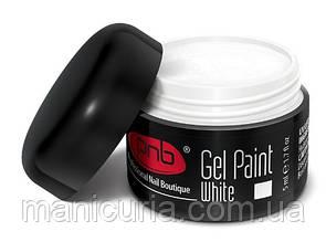 Гель-краска PNB UV/LED Gel Paint 01 White, 5 мл