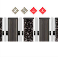 Влагопоглинаюча миталева решітка - наповнювач Гума + Скребок + Текстиль
